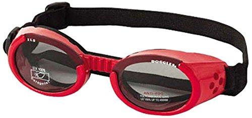 Doggles DGIL-13-M ILS Shiny Red Frame/Smoke Lens Hundesonnenbrille, M