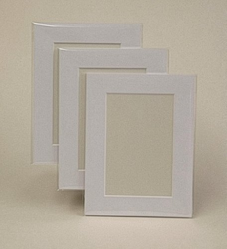 Frith&Company 100 Ice White Picture Mounts, Backs & Bags 16 x 12'' for A4