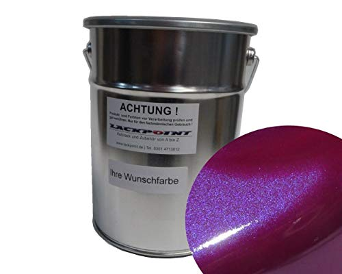 1 Liter Spritzfertigen Basislack Candy Violett Metallic Autolack Trendlack neu