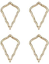 5dcaf3d6cb88 SUNNYCLUE - 1 Caja de 4 Colgantes de aleación chapada en Oro Real para araña  de 60 x 39 x 3 mm para Hacer Pendientes Colgantes
