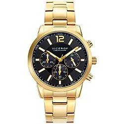 Viceroy Reloj Cronógrafo para Hombre de Cuarzo con Correa en Acero Inoxidable 471051-95