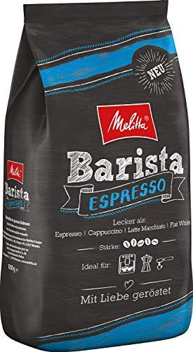 Melitta Barista Ganze Kaffeebohnen, kräftig und vollmundig, kräftiger Röstgrad, Stärke 5, Melitta Barista Espresso 1 kg