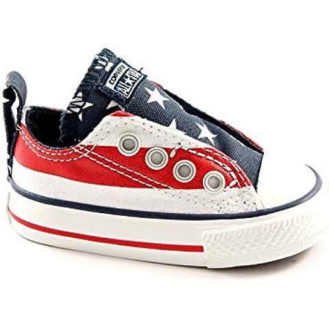 CONVERSE estrellas y barras 737771C ct resbalón zapatos de bebé toda bandera americana estrellas