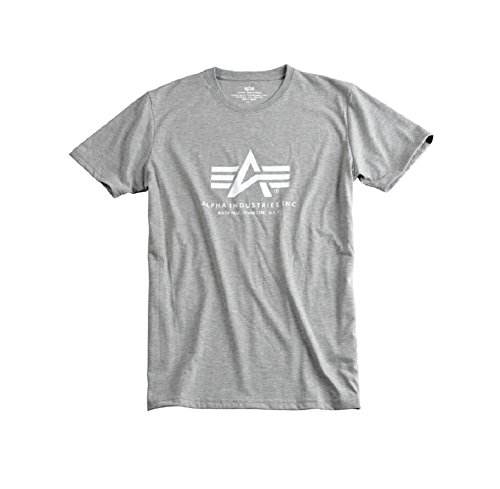 Alpha Industries Basic Logo T-Shirt Logo Shirt Grey/White