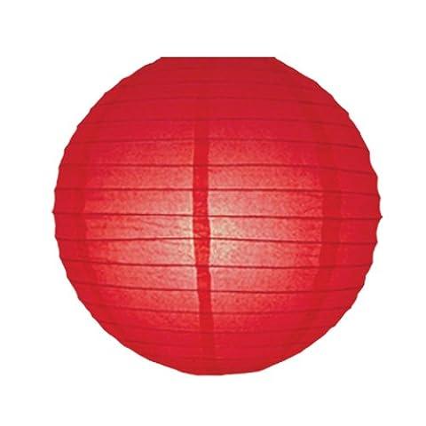 7714R 35cm Red Imitation Faux Silk Lantern Pendant Shade