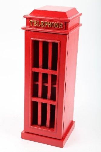 k DVD-Schrank DVD-Turm Telefonzelle im Retrolook rot 52cm ()