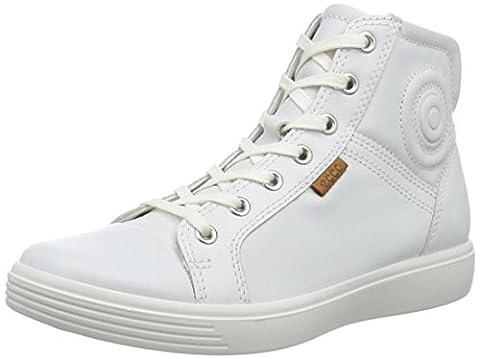 Ecco ECCO S7 TEEN, Unisex-Kinder Hohe Sneakers, Weiß (WHITE01007), 39 EU (6 Kinder UK)