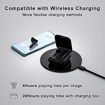 Cuffie Bluetooth, KUNGIX Auricolari Bluetooth Senza Fili Impermeabile IPX7 Auricolari Wireless 5.0 Stereo Sportivi in Ear con Custodia da Ricarica 800mAh Microfono Hi-Fi Cuffie per iPhone Android