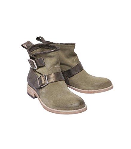 NOBRAND Damen Schuhe Stiefel Stiefelette Boots - Baumwolle - braun mimo bamboo 41