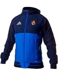 adidas Rs Pre Jkt Chaqueta Línea Real Sociedad de Fútbol, Hombre, Azul, XL
