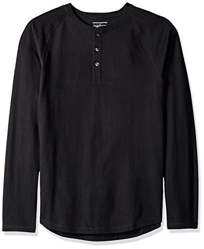 Amazon Essentials Camiseta Slim Fit de Manga Larga de Béisbol con Cuello Henley Hombre