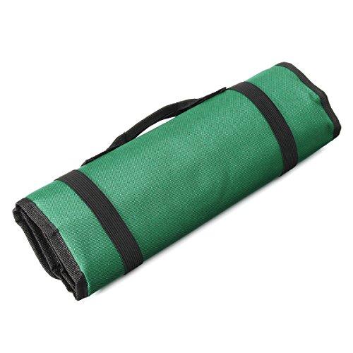 ChaRLes 22 Taschen-Hardware-Tools Roll Case Bag Plier Screwdriver Spanner Pouch Tools Kit - Grün