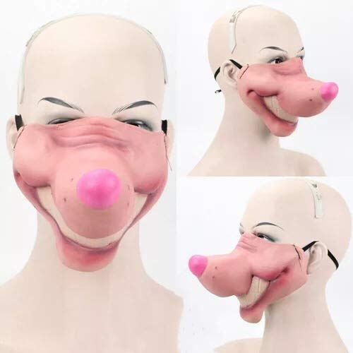 (thematys Gruselige & witzige Masken - perfekt für Fasching, Karneval & Halloween - Kostüm für Erwachsene - Latex - 9 Verschiedene Designs (9))