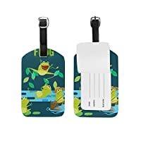 COOSUN Frog Luggage Tags Travel Labels Tag Name Card Holder for Baggage Suitcase Bag Backpacks, 1 PC