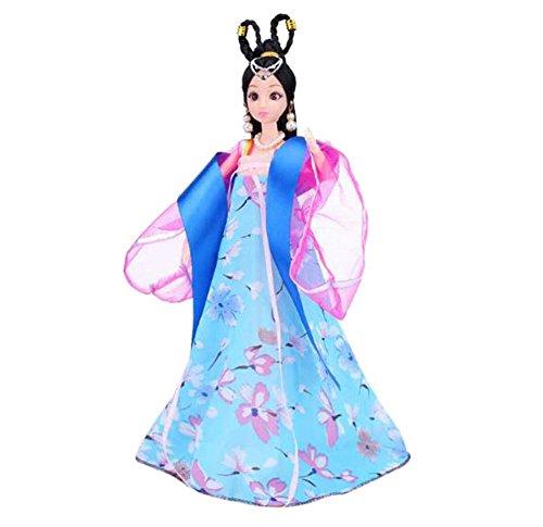tüm Prinzessin / Göttin Spielzeug Menschen Puppen Mädchen Dressup-Blau (Alte Menschen Kostüme Für Kleinkinder)