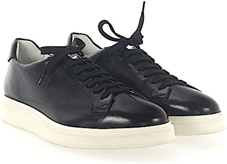 Santoni Sneaker 20672 Leder Schwarz  Billig und erschwinglich Im Verkauf