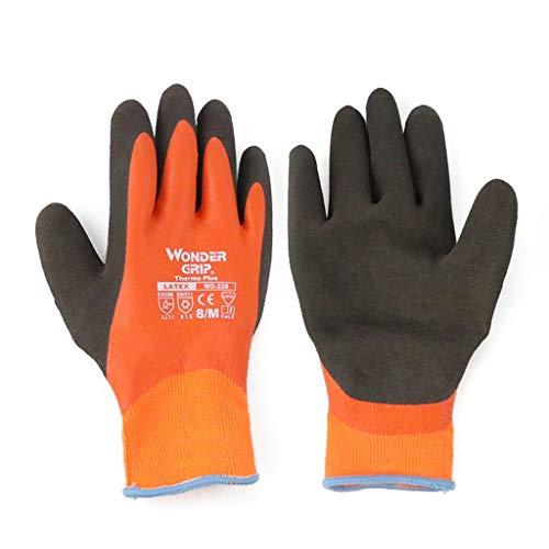 XJLXX Kalt- und Frostschutzhandschuhe, wasserdichte, rutschfeste, warme, kalte Tiefkühlhandschuhe für die Gefriermaschine, EIN Paar vollhängender Kleber Industriehandschuhe