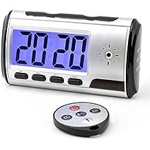 Mengshen despertador portátil espía cámara ocultada DVR con detección de movimiento (tarjeta TF no incluida) Videocámara MS-V001
