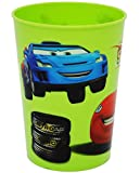 Unbekannt 1 Stück _ 3 in 1 - Trinkbecher / Zahnputzbecher / Malbecher - Becher -  Disney Cars - Lightning McQueen - GRÜN  - 280 ml - Trinkglas aus Kunststoff Plastik ..