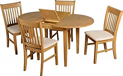 Seconique Oxford Oak Extended Dining Set With 4 Chairs produced by Seconique - quick delivery from UK.