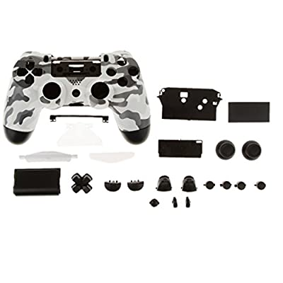 MagiDeal Controller Housing Case Shell with Buttons Mods Full Kits Grey Black Camouflage for Sony Playstation 4 DualShock4 Replacement Parts from MagiDeal