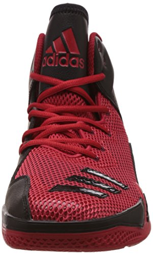 adidas Herren Dt Bball Mid Basketballschuhe Multicolore (Scarle/Ftwwht/Powred)