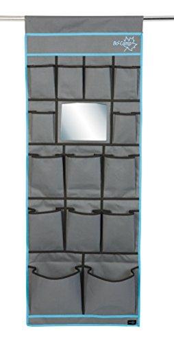Bo-Camp BC Organizador Multifuncional de 14 Compartimentos y Espejo, Antracita, Negro, N/D