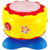 Baoli Baby Musical Pop Hand Drum Toy with Music and Light