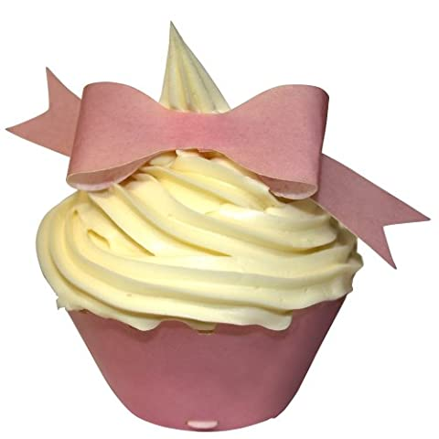 Pre-cut kit to make 10 edible wafer 3D BABY PINK BOWS - these are just right for your Baby Shower Party and so easy to