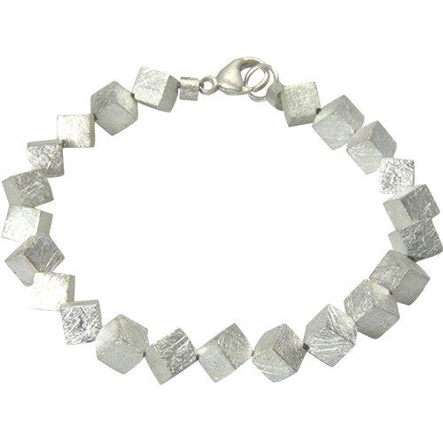 skielka designschmuck Bracelet en argent 925cubes 6mm mat glacé () Dés Bracelet-orfèvre travail haute qualité