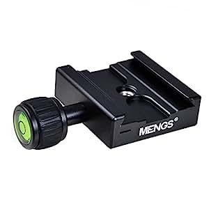 """MENGS® CL-50C Klemme für 1/4"""" Kameraschraube einstellbar massivem Aluminium eingebauten Hochkontraststufen kompatibel mit Akai Standard Schnellwechselplatte"""