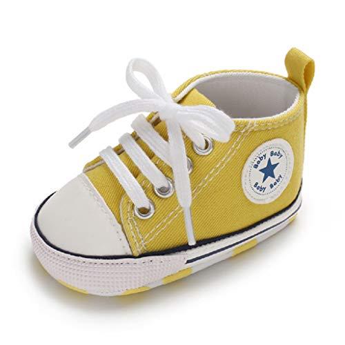 Auxma Niedlich Kind Baby Säugling Junge Mädchen weiche Sohle Kleinkind Schuhe Leinwand Sneak (12-18 Monat, VV) -