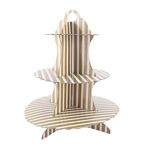 AUNMAS Kuchen Display Rack Tiered Keramik Serviertortenständer Obstteller Rack für Babyparty Hochzeiten Geburtstage Party Food Storage(2#)