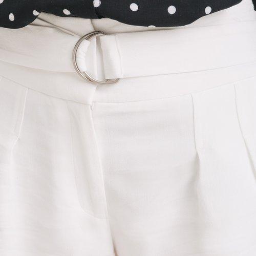 Promod Short paper bag Femme Ecru