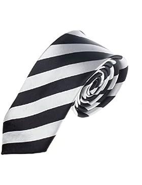 Ularma Moda Rayas Casual Slim para hombre flaco cuello estrecho fiesta boda lazo corbata