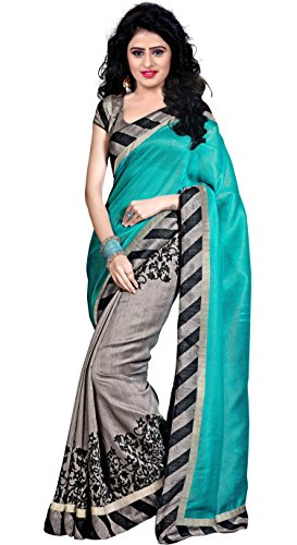 Trendz Cotton Silk Saree (Tz_Dolly_Sky_Sky)
