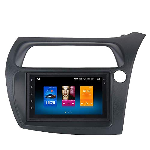 Dasaita 7' 2 Din Android 8.0 Auto Stereo Autoradio con Octa Core 4GB/32GB per Honda Civic Hatchback 2006 2007 2008 2009 2010,Unità di navigazione GPS auto testa supporto Bluetooth WiFi DVR Carplay