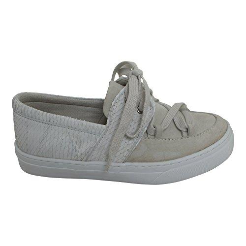 IKKII Damen Schuhe Boat Akna Farbe hellgrau (42)