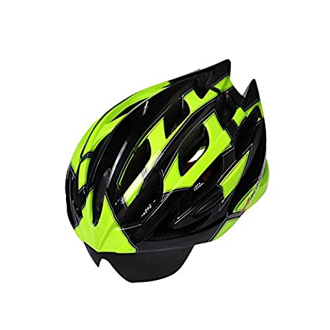 275g Poids ultra léger - Casque de vélo de qualité Airflow de première qualité spécialisé pour le vélo de route et de montagne - Casques certifiés de sécurité pour hommes et femmes adultes, garçons et filles adolescents - Confortable, léger, respirant ( Color : Dark green )