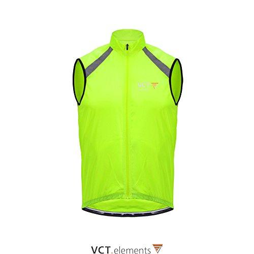 VCT Vest Beacon windfeste Unisex Weste Sicherheitsweste hohe fluoreszierend Sichtbarkeit Reflektoren (Neon-Gelb, L) - Damen Beacon