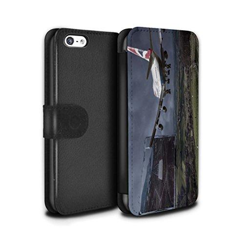 Stuff4 Coque/Etui/Housse Cuir PU Case/Cover pour Apple iPhone 5C / Fausse Alarme Design / Imaginer Collection Atterrissage Brutal
