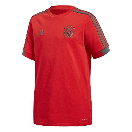 adidas Kinder 18/19 FC Bayern T-Shirt, red/Utility ivy, 128 -
