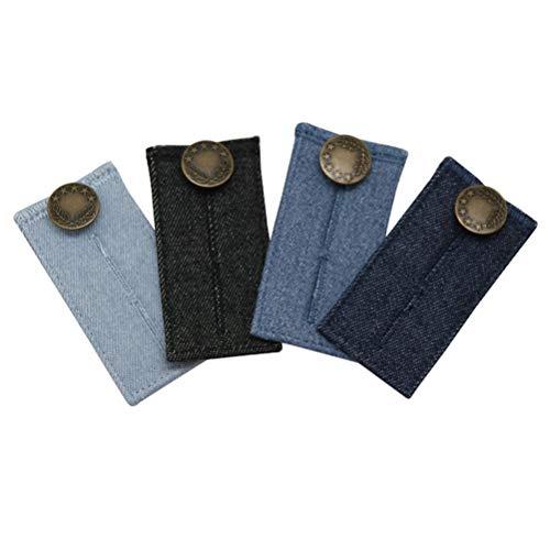 TENDYCOCO 4 Stücke Elastische Taille Extender Jeans Hosen Taste Verstellbarer Bund Expander für Männer Frauen Hose-taste