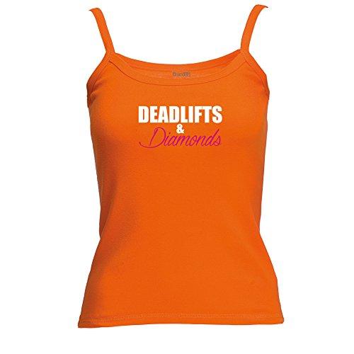 Brand88 - Deadlifts & Diamonds Spagetti Traeger Top Orange