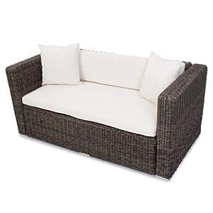 polyrattan grau garten gartensofa poly rattan sofa naturgrau lounge outdoor k che. Black Bedroom Furniture Sets. Home Design Ideas