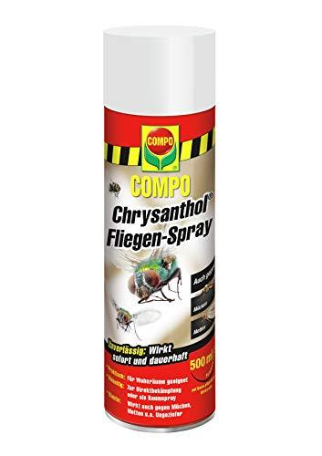 COMPO Chrysanthol Fliegen-Spray, Insektenspray gegen Fliegen, Mücken, Motten u.a. Ungeziefer, 500 ml -
