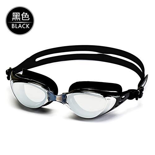 RSRZ Männer Und Frauen Große Box Schwimmbrille Wasserdicht Überzug Myopie Schutzbrille Hd Anti-Fog wasserdichte Schwimmbrille Pure Black