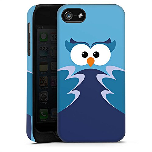 Apple iPhone X Silikon Hülle Case Schutzhülle Eule Owl Blau Tough Case matt
