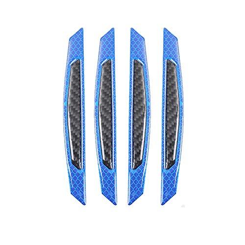 Auto Autotür Kantenschutzleisten Multi Farben Guards Buffer Trim Moulding Schutzstreifen Kratzschutz Reflektierende Sicherheitswarnung 4 Teile/satz (Blau) - Moulding Trim
