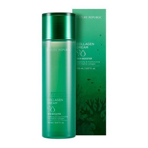 Nature Republic - Collagen Dream 90 Skin Booster - Gesichtswasser mit 90% Marine Kollagen und 1.500mg Acai Berry gegen Falten für Frauen und Männer - Anti Aging Tagespflege Unisex für ein frisches Hautbild - Tagespflege - Gesichtspflege